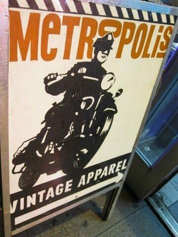 Metropolis Vintage Street Sign