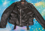 1960's PERFECTO Leather MOTORCYCLE Jacket Hand Cut SCHOTT Talon Zipper Size 44